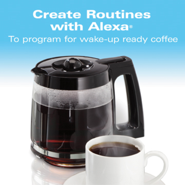 Easily create new automatic routines to have the smart coffee maker brewing fresh coffee in the morning