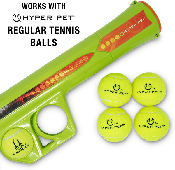Works flawlessly with Hyper Pet Regular Tennis Balls