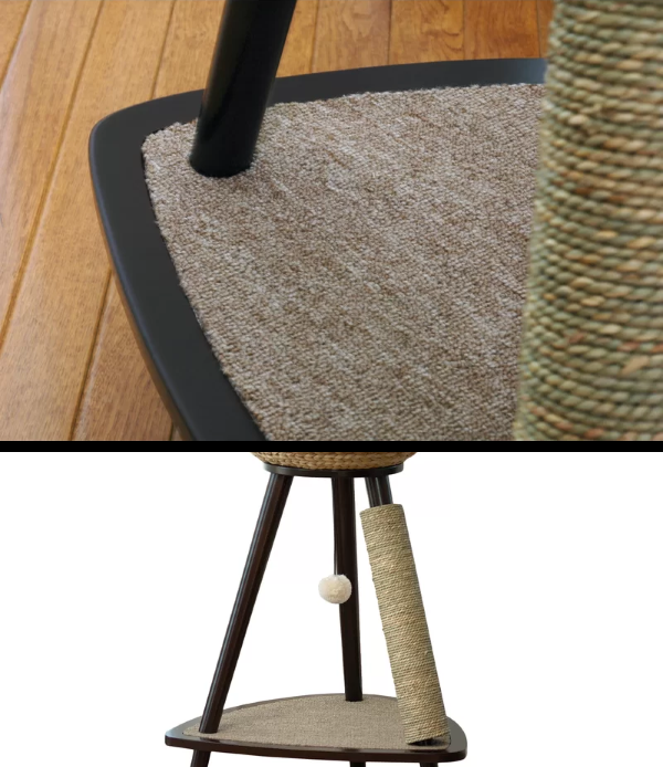 Durable manufactured tripod base with Carpet Platform & Dangling Ball