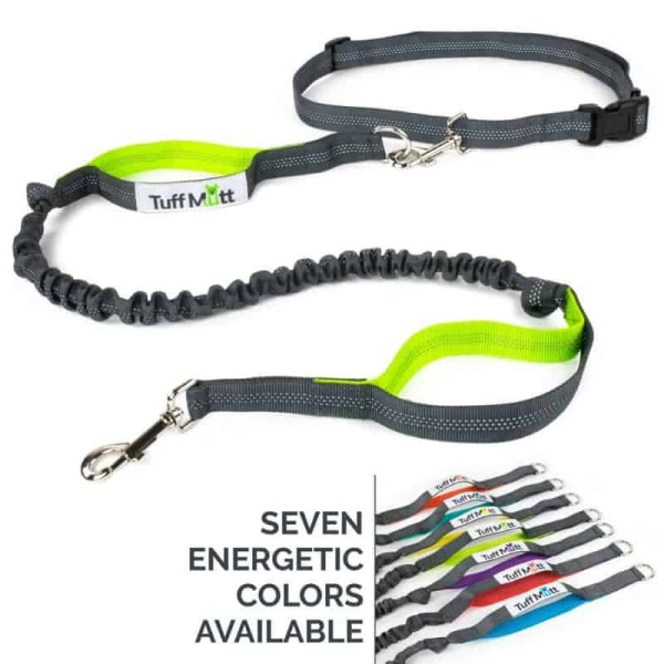 Tuff Mutt Hands Free Dog Leash - Available in 7 Different Dual-Color Models