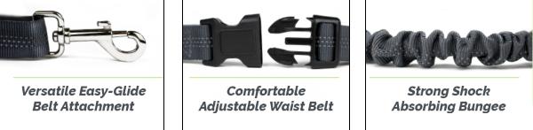 Features an Adjustable Waist Belt