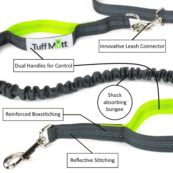Tuff Mutt Hands Free Dog Leash - All Features