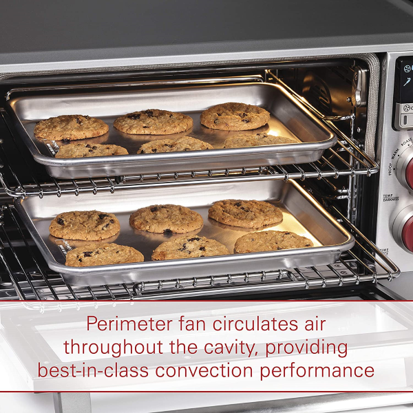 Equipped with a Perimeter Fan that evenly circulates air throughout its cavity