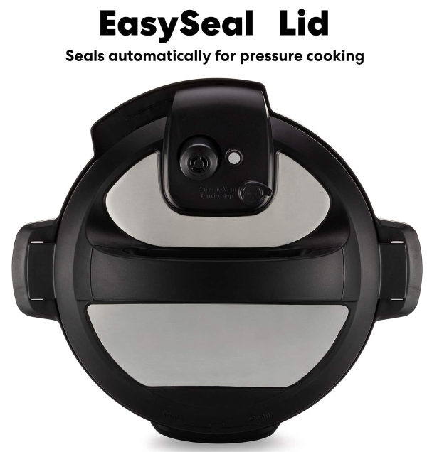 Comes equipped with a new and easy-seal lid that automatically seals itself