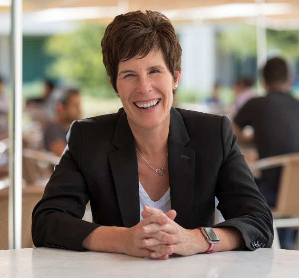 Apple's Senior Vice President of Retail + People Deirdre O'Brien, who reports directly to the company's CEO Tim Cook