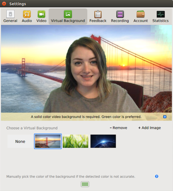 Zoom's Virtual Backgrounds feature