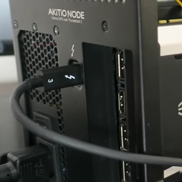 Included Thunderbolt 3 cable