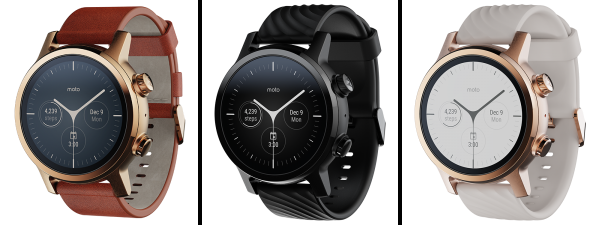Moto 360 Smartwatch 2020 (3rd Gen) - Available in 3 Different Color Models