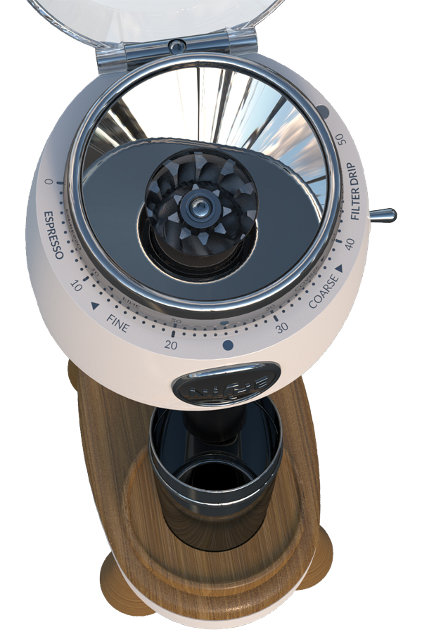Comes integrated with an easy-to-use and easy-to-adjust Infinite Grind Dial and with a Safety Interlocking Lid