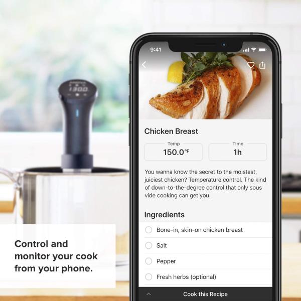 Anova Culinary Precision Cooker & Anova Culinary App - In-App Recipes