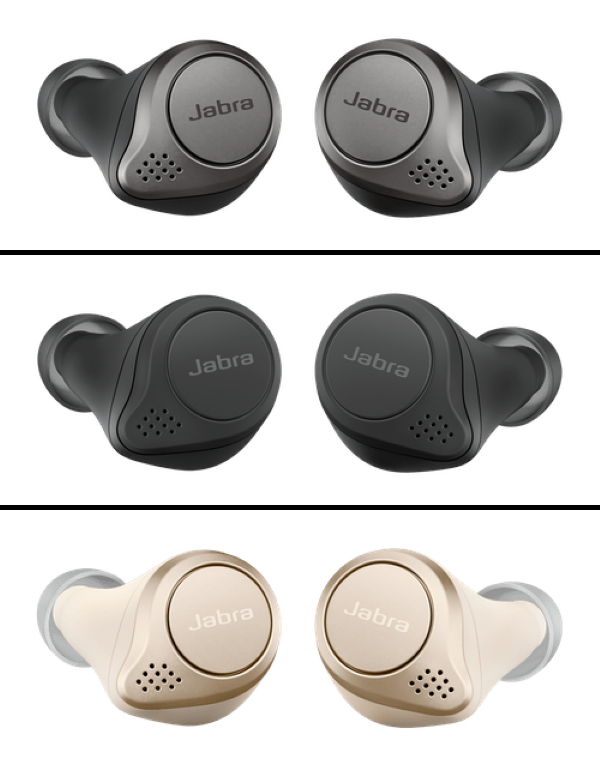 Jabra Elite 75t True Wireless Earbuds - Available in 3 Different Color Models