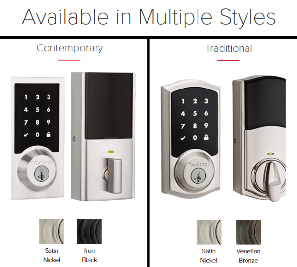 Kwikset Premis Smart Lock - Available in 2 Different Styles and 2 Different Color Models