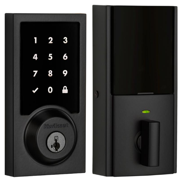 Kwikset Premis Smart Lock - Contemporary style in Iron Black