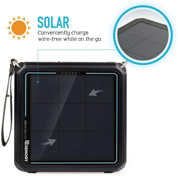 Equipped with a small, yet super reliable built-in Solar Panel