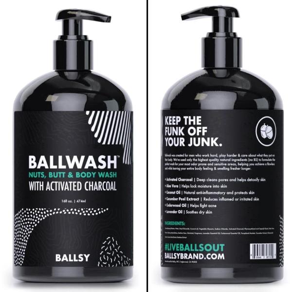 Ballsy BallWash Charcoal Body Wash