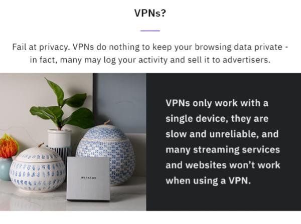 Winston VS VPNs (Virtual Private Networks)