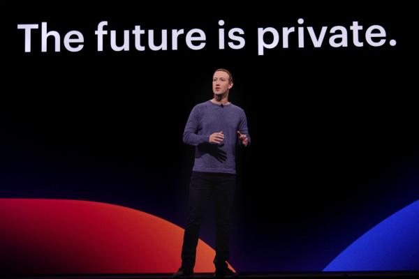 Mark Zuckerberg at Facebook's F8 2019 conference