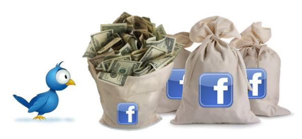"Facebook's ""Cartoonish"" Economic Power comparison to Twitter's"