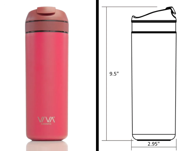 VIVA Recharge Travel Mug - Measurements