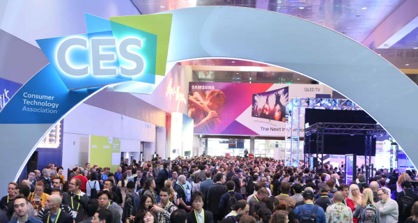 CES 2020 Fully-Packed corridors with tons of visitors, members of the media, and companies' representatives