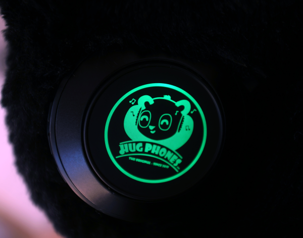 Color-Changing LED Logos at the HugPhones' Ear-Cups