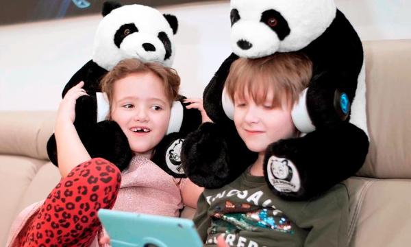 HugPhones Wearable Teddy Bear Bluetooth Headphones
