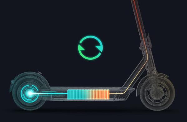 Dual Braking System - Front-Wheel Mechanical Drum Brake & Back-Wheel Regenerative Electric Brake