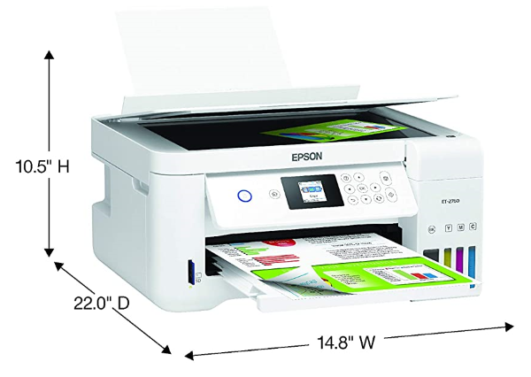 Epson EcoTank ET-2760 - Measurements (when opened)
