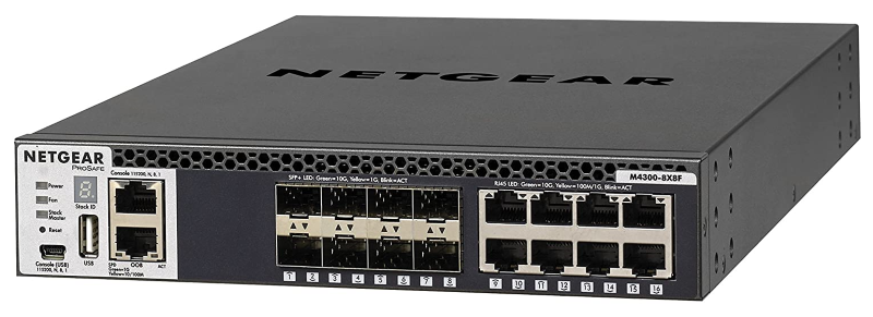 Netgear M4300-8X8F Stackable Fully Managed Switch