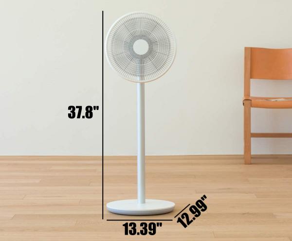 Smartmi Standing Fan 2S - Measurements / Design