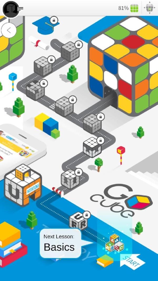 GoCube App - Go-Learn Mode