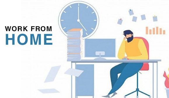Working from Home / Image Source: adgully.com