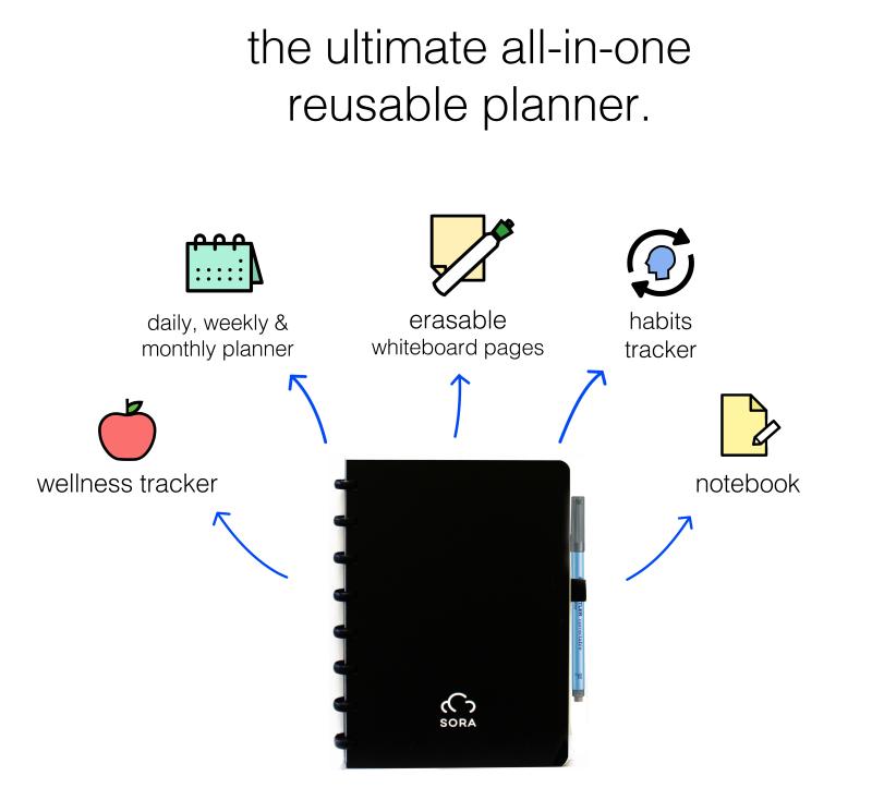 SORA Reusable Life Planner