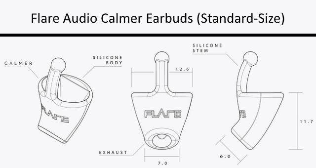 Flare Audio Calmer Earbuds (Standard-Size)