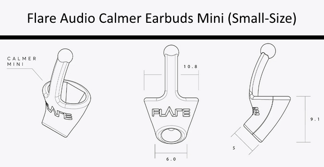 Flare Audio Calmer Earbuds (Mini-Size)