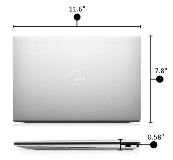 Dell XPS 13 Laptop - Measurements