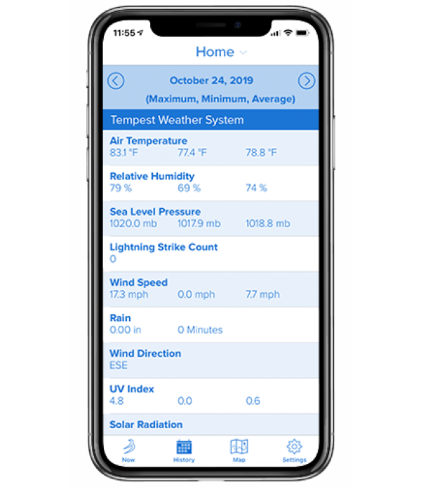 Tempest Weather App - Generated Weather History Report