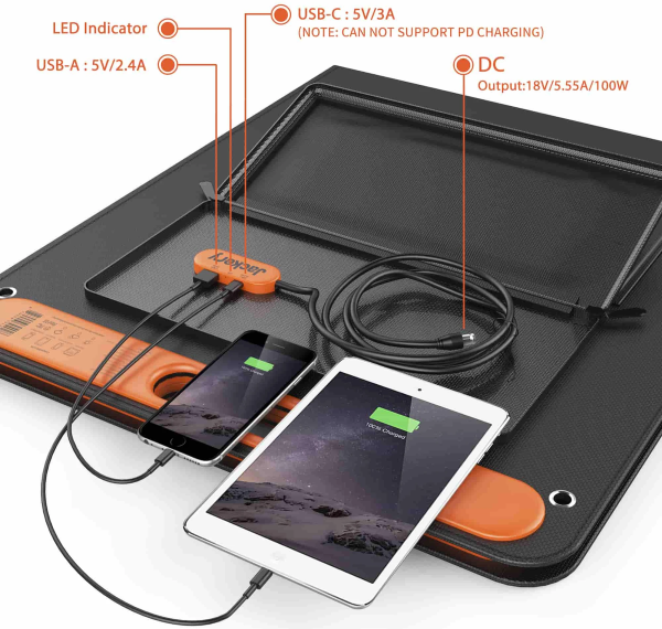SolarSaga 100W Solar Panel - Interface / Connection Panel