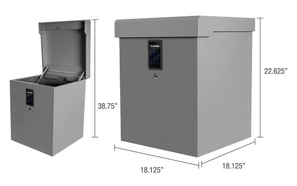 Clevermade Parcel LockBox S100 Series - Measurements