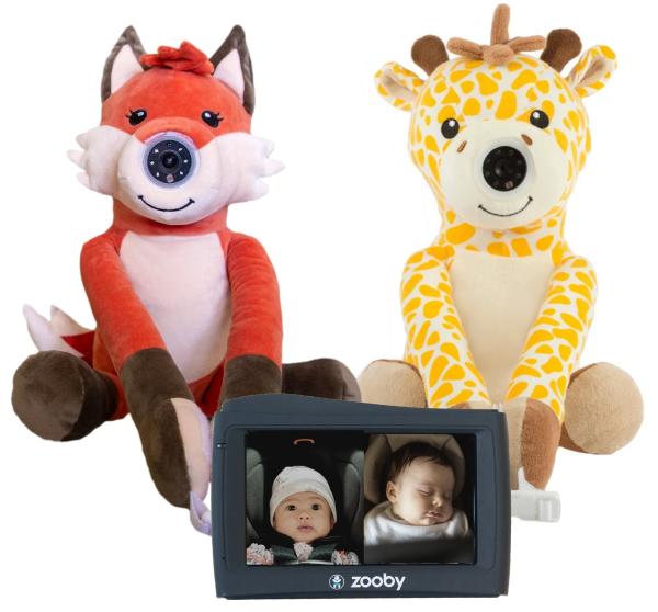 infanttech zooby kin Baby Monitor (Fox and Giraffe 2-1 Combo)