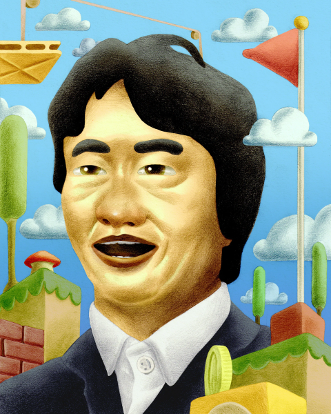 Shigeru Miyamoto Illustration by Jeffrey Kam