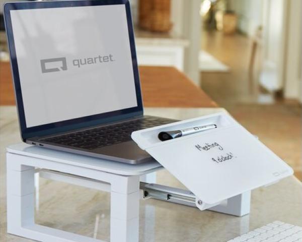 Quartet Desktop Glass Monitor Riser