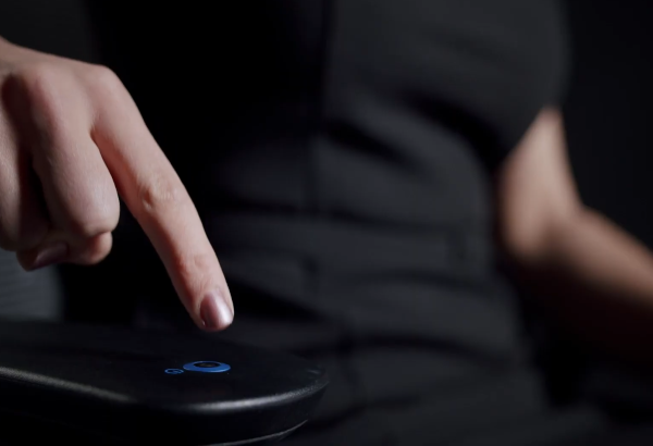 The chair's 3D Armrests's built-in Health Monitor