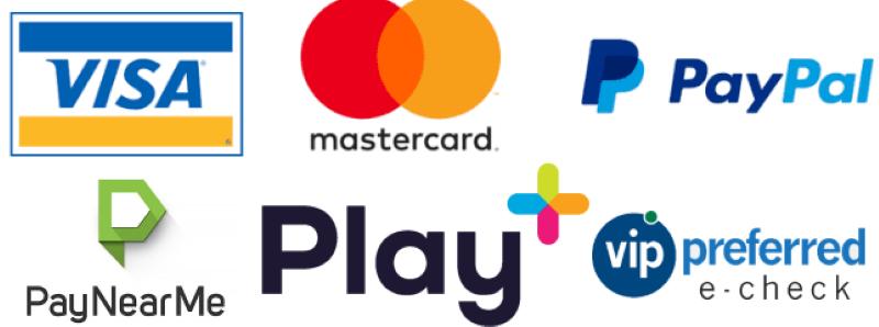 Mange forskellige betalingsmetoder