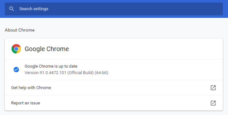 Google Chrome Zero-Day Flaw - Updating to Chrome to the most recent version (91.0.4472.101)