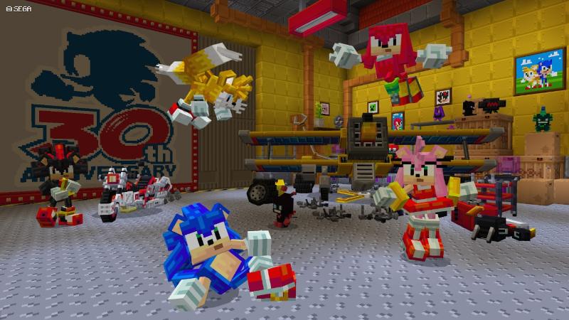 Minecraft Sonic the Hedgehog DLC - 30th Anniversary Minecraft Celebration