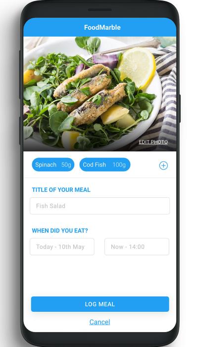 FoodMarble App - Log Your Foods