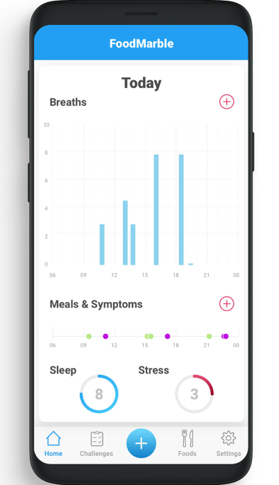 FoodMarble App - Track your Breath Tests' results