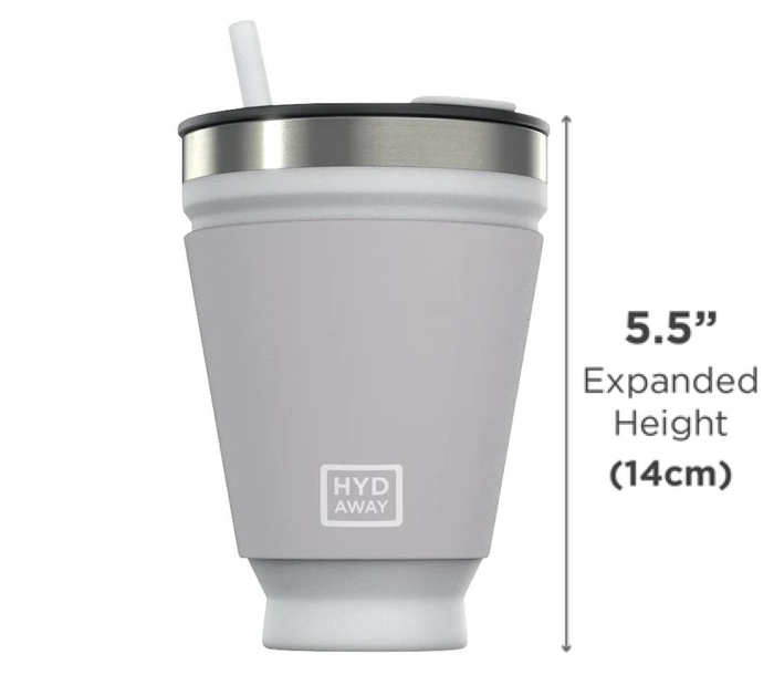 HYDAWAY Collapsible Drink Tumbler - Measurements (Fully-Extended)