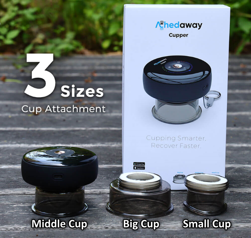 Achedaway Cupper Smart Cupping Therapy Massager w/ Red Light Therapy